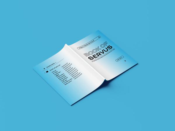 book of servus booklet mockup