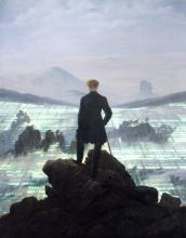 Wanderer above the Sea of Fog, Painting by Caspar David Friedrich, 1818